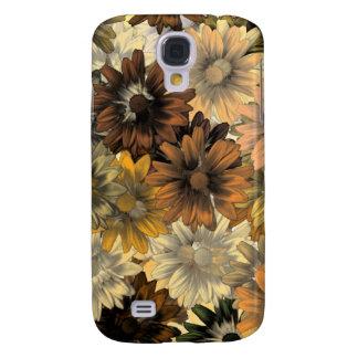 Brown floral pern galaxy s4 case
