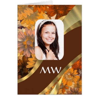 Brown floral photo template