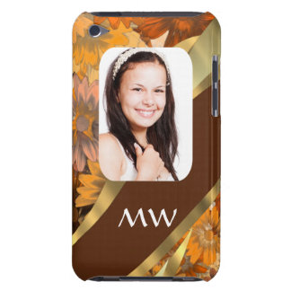 Brown floral photo template barely there iPod case