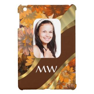 Brown floral photo template iPad mini case