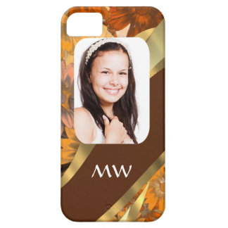 Brown floral photo template iPhone 5 case