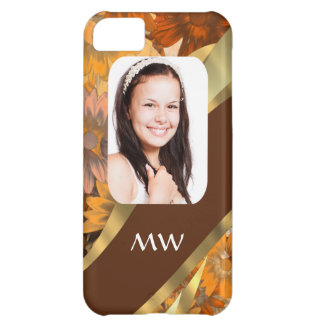 Brown floral photo template iPhone 5C case