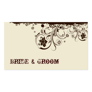 Brown Floral Place Cards Business Card Templates