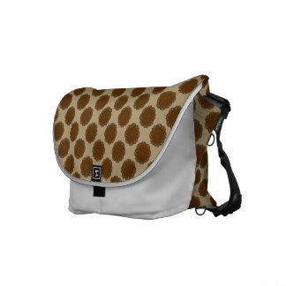 Brown Flower Ribbon Courier Bag