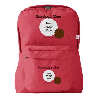 Brown Flower Ribbon Template Backpack