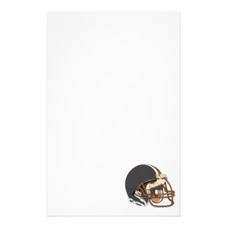 Brown Football Helmet Custom Stationery