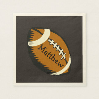 Brown Football Sports Paper Napkins