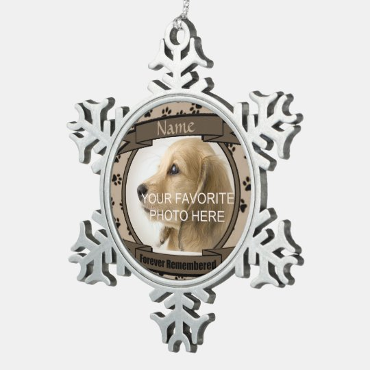 Brown Forever Remembered Dog or Cat Memorial Snowflake