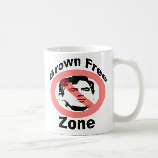 Brown Free Zone Mug