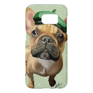 Brown French Bulldog with Green Hat