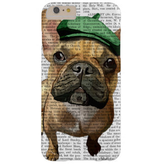 Brown French Bulldog with Green Hat 2 Barely There iPhone 6 Plus Case