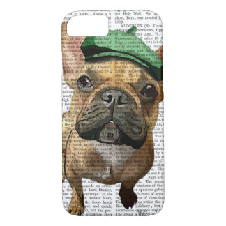 Brown French Bulldog with Green Hat 2 iPhone 8/7 Case