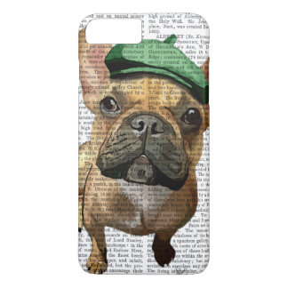 Brown French Bulldog with Green Hat 2 iPhone 8 Plus/7 Plus Case