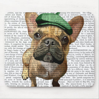 Brown French Bulldog with Green Hat 2 Mouse Mat