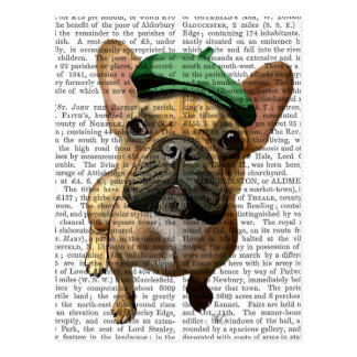 Brown French Bulldog with Green Hat 2 Postcard
