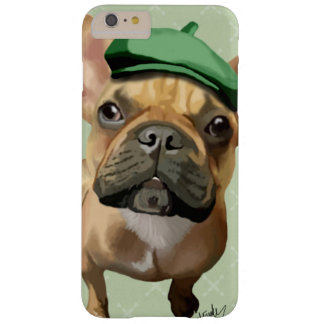 Brown French Bulldog with Green Hat Barely There iPhone 6 Plus Case