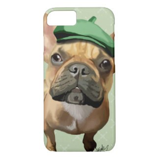 Brown French Bulldog with Green Hat iPhone 8/7 Case