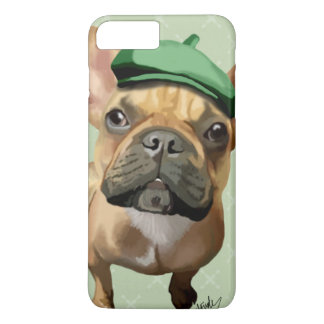 Brown French Bulldog with Green Hat iPhone 8 Plus/7 Plus Case