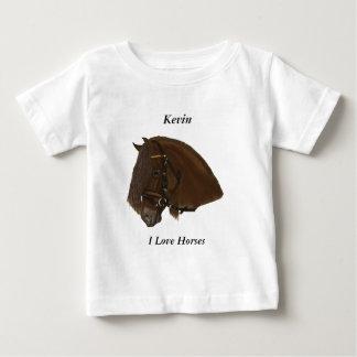 Brown Friesian Draft Horse Baby T-Shirt