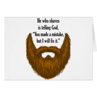 brown fuzzy beard card