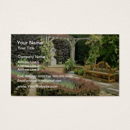 Brown Garden Seat In Rose Pergola, With Berberis