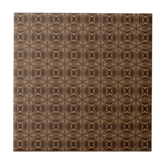 Brown Geometric Pattern Ceramic Tile