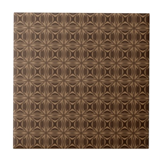 Brown Geometric Pattern Ceramic Tile