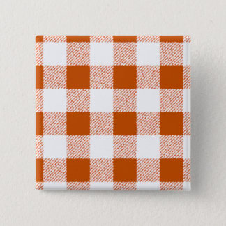 Brown Gingham Check Pattern 15 Cm Square Badge
