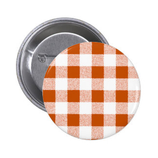 Brown Gingham Check Pattern 6 Cm Round Badge