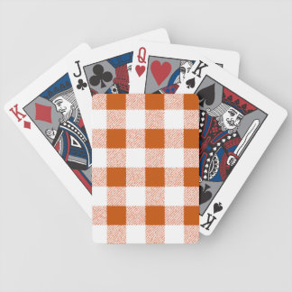 Brown Gingham Check Pattern Bicycle Playing Cards