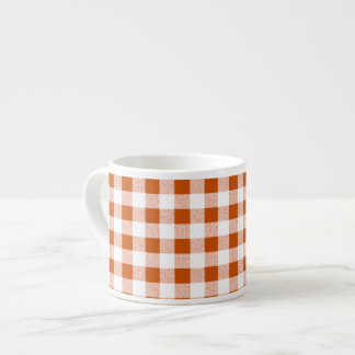 Brown Gingham Check Pattern Espresso Cup
