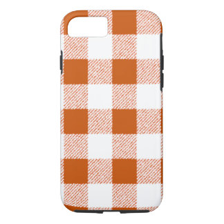 Brown Gingham Check Pattern iPhone 8/7 Case