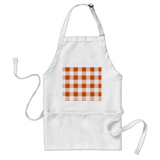 Brown Gingham Check Pattern Standard Apron