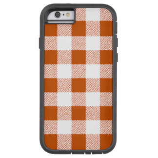 Brown Gingham Check Pattern Tough Xtreme iPhone 6 Case