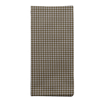Brown Gingham Checks Cloth Napkin
