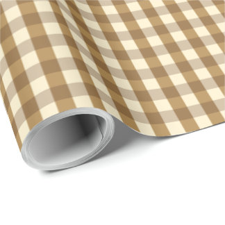 Brown Gingham Wrapping Paper