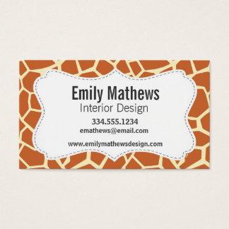 Brown Giraffe Pattern