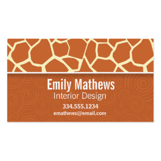 Brown Giraffe Pattern Double-Sided Standard Business Cards (Pack Of 100)
