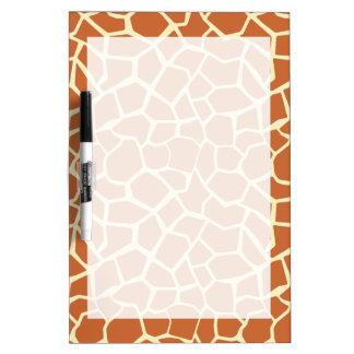 Brown Giraffe Pattern Dry Erase Board