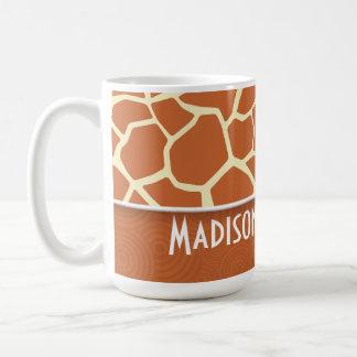 Brown Giraffe Pattern Mug