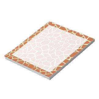 Brown Giraffe Pattern Notepad