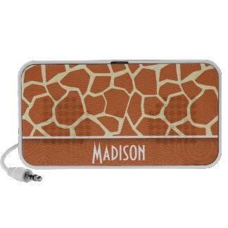 Brown Giraffe Pattern Laptop Speaker