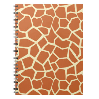 Brown Giraffe Pattern Spiral Notebook