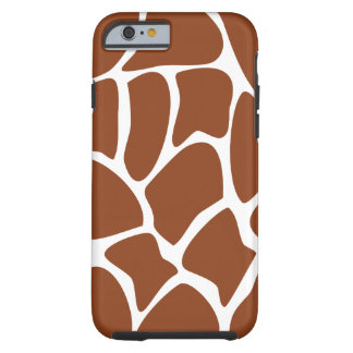 Brown Giraffe Pattern. Tough iPhone 6 Case