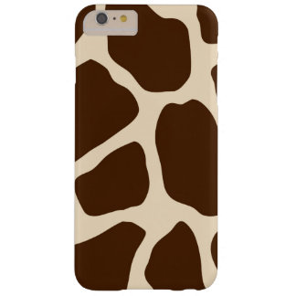 Brown Giraffe Print Barely There iPhone 6 Plus Case