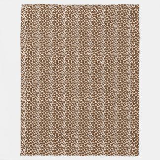 Brown Giraffe Print Fleece Blanket