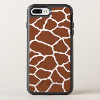 Brown Giraffe Print OtterBox iPhone 7 Plus Case
