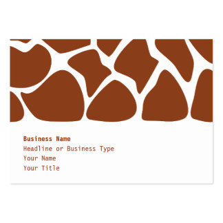 Brown Giraffe Print Pattern. Large Business Cards (Pack Of 100)