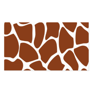 Brown Giraffe Print Pattern. Business Card Templates