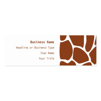 Brown Giraffe Print Pattern. Double-Sided Mini Business Cards (Pack Of 20)